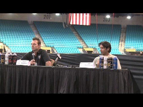 US Open 2008 - Pre-Race Press Conference with Damon Bradshaw and Jeff Matiasevich