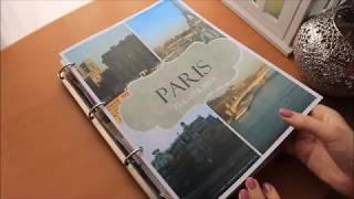 Paris travel Scrapbook album Flip through