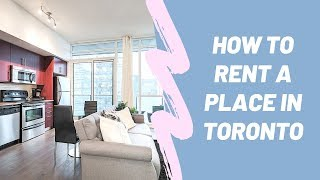 How to rent a home in Toronto