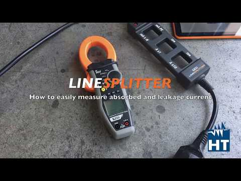 How To Measure Current With Line Splitter By HT Instruments
