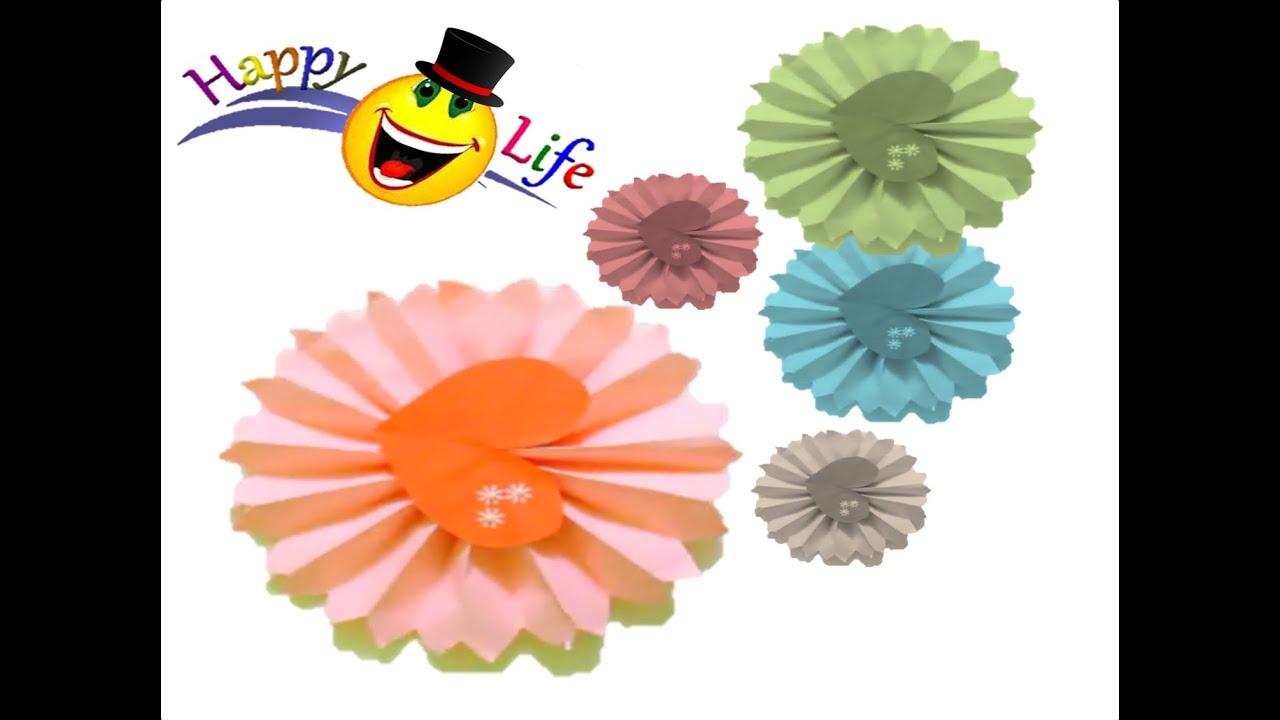 Decoraci n para cumplea os c mo hacer rosetones de papel - Como hacer adornos para fiestas ...