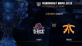 GRX vs FNC — ЧМ-2018, Групповая стадия, День 4, Игра 4