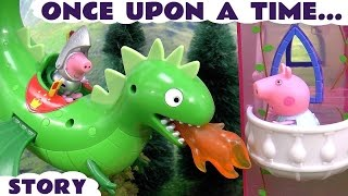 Peppa Pig Play Doh Once Upon A Time Stop Motion Fairy Tale English Episode | Toys Juguetes de Peppa