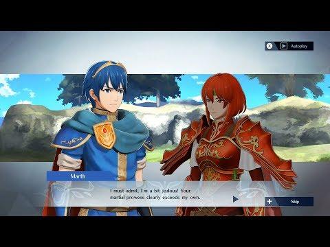 Fire Emblem Warriors - Marth & Minerva Support Conversation