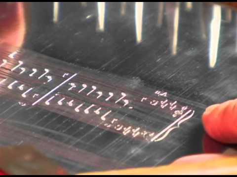 Music Engraving on Metal Plates (with sound)