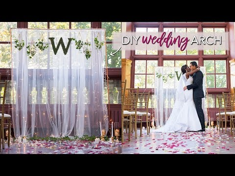 DIY Wedding Ceremony Backdrop (EASY & No Tools Required!)