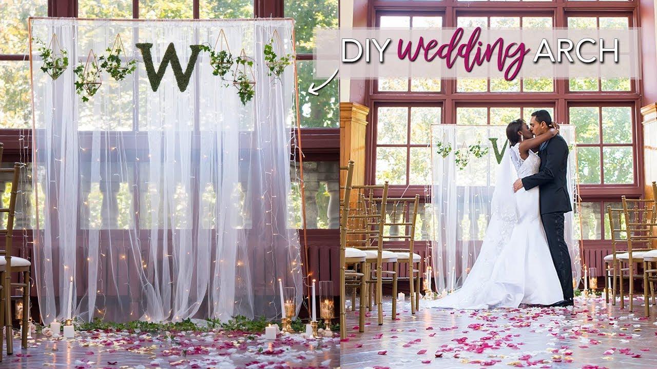 Diy Wedding Ceremony Backdrop Easy No Tools Required