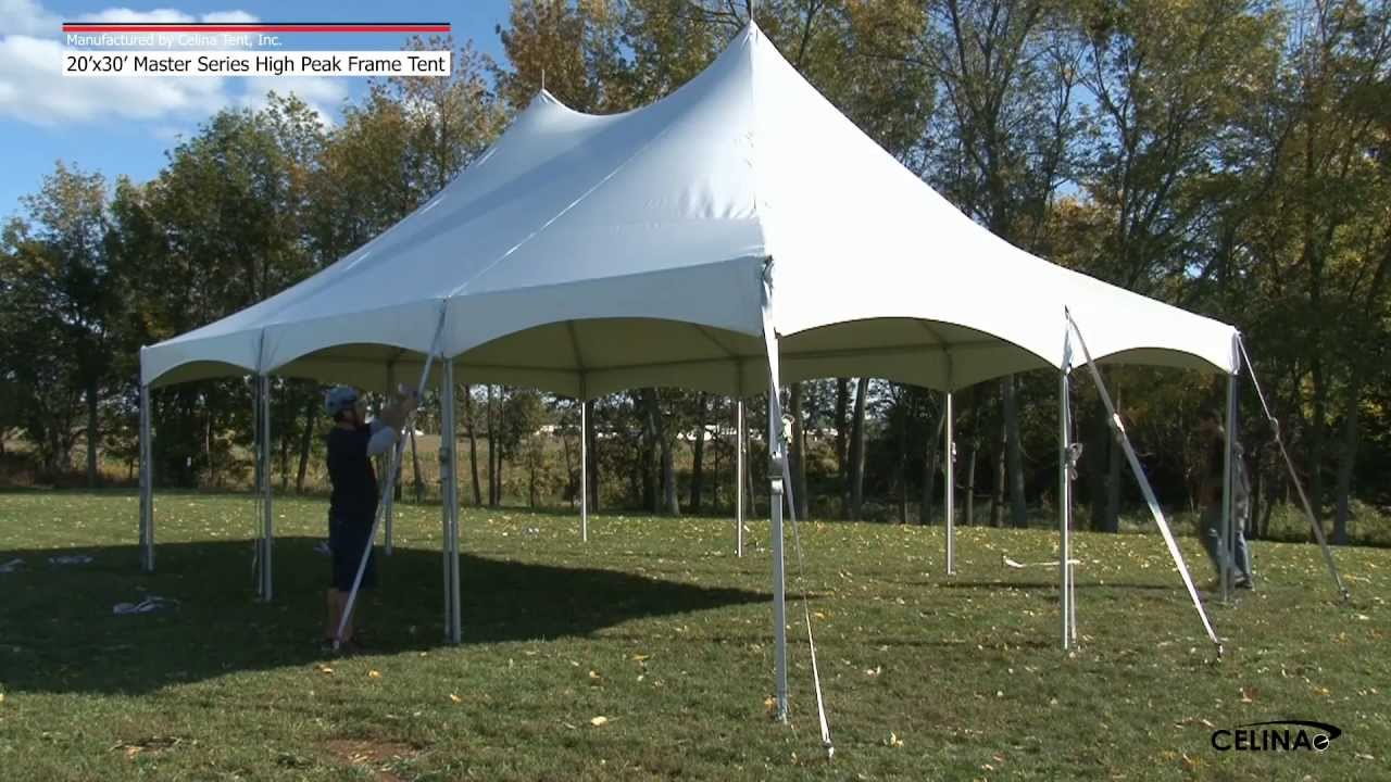 20 X 30 Master Series High Peak Frame Tent Installation Procedure