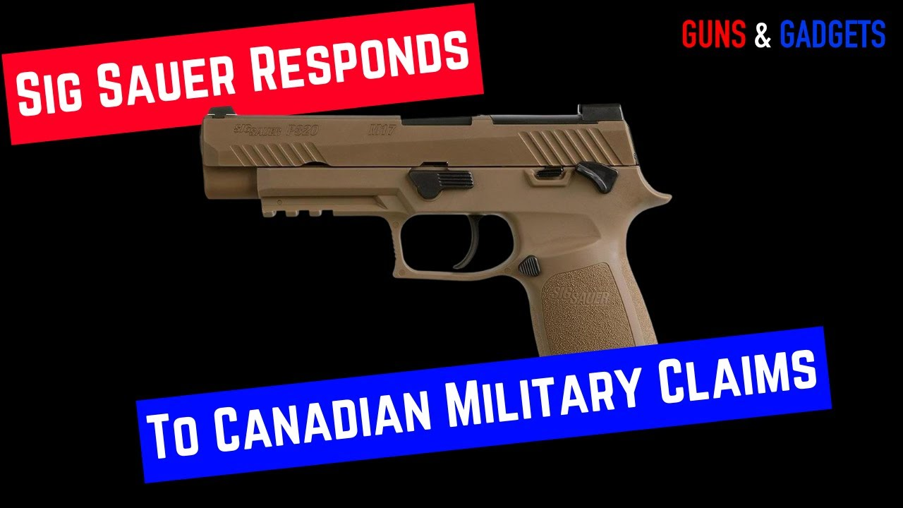 Sig Sauer Addresses Canadian Special Forces Claim
