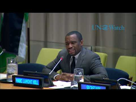 "Marc Lamont Hill at UN calls for ""Free Palestine from the River to the Sea"" to chorus of applause"