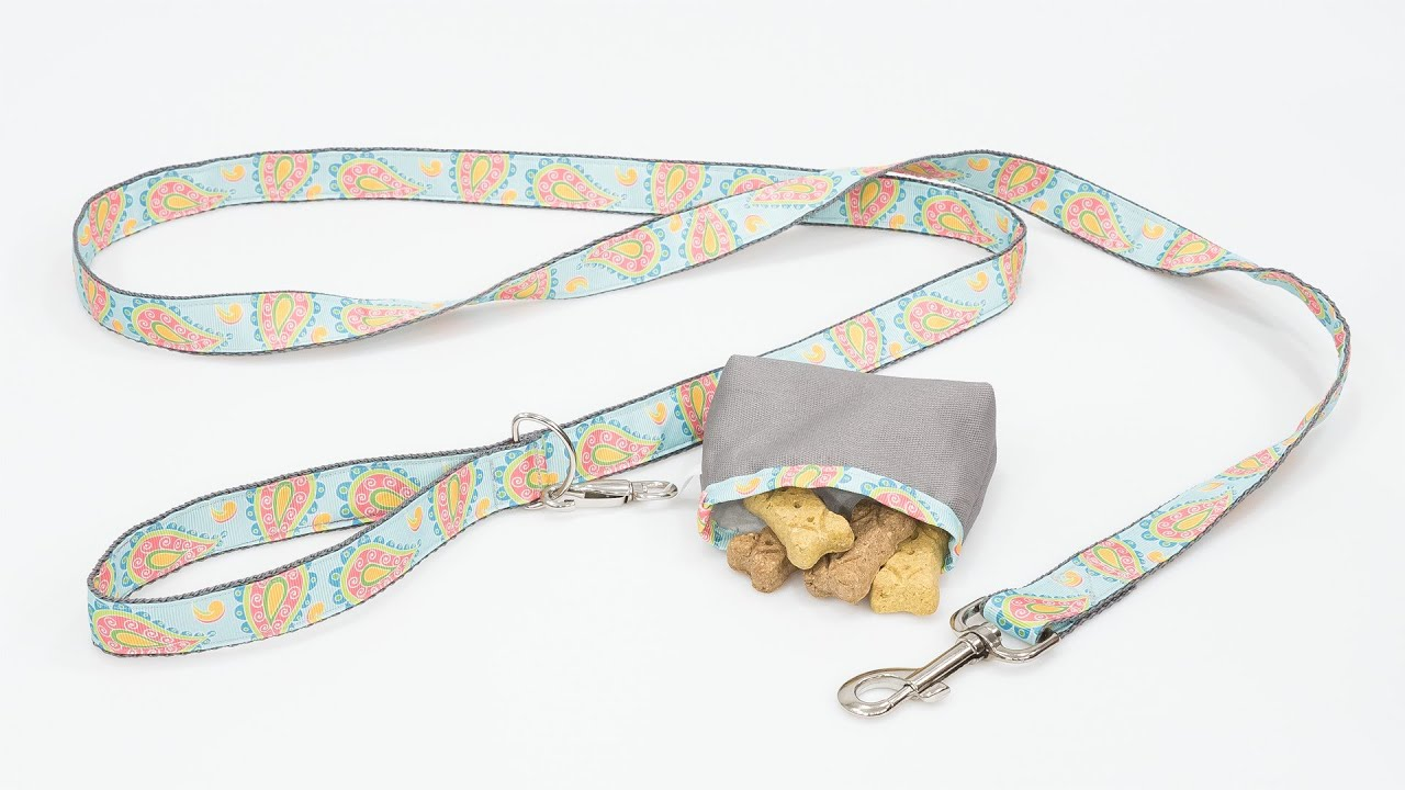 How to sew a dog leash with treat bag youtube how to sew a dog leash with treat bag jeuxipadfo Gallery