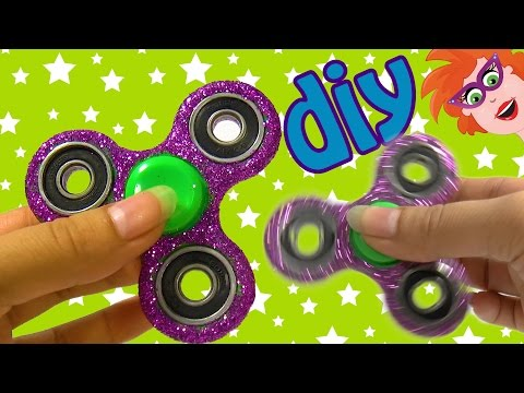 DIY glitter fidget spinner (pimpen) - The Joker kleuren??