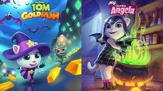 Talking Tom Gold Run Halloween - My Talking Angela Gameplay 2018