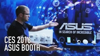 ASUS Booth - Home Security, Motherboards, Curved Monitors | CES 2016