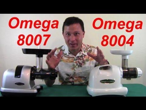Omega 8007 Nutrition Center vs Omega 8004 Juicer Comparison