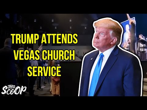 Trump Attends Church In Las Vegas