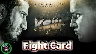 KSW 46 - Fight Card