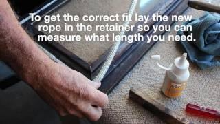 Replacing wood heater door rope seal