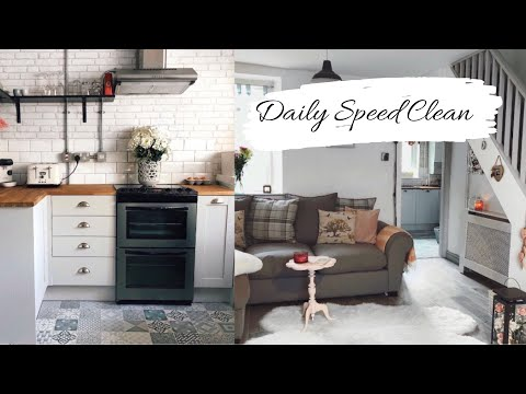 Daily Speed Clean   Kitchen & Living Room How to keep your house tidy