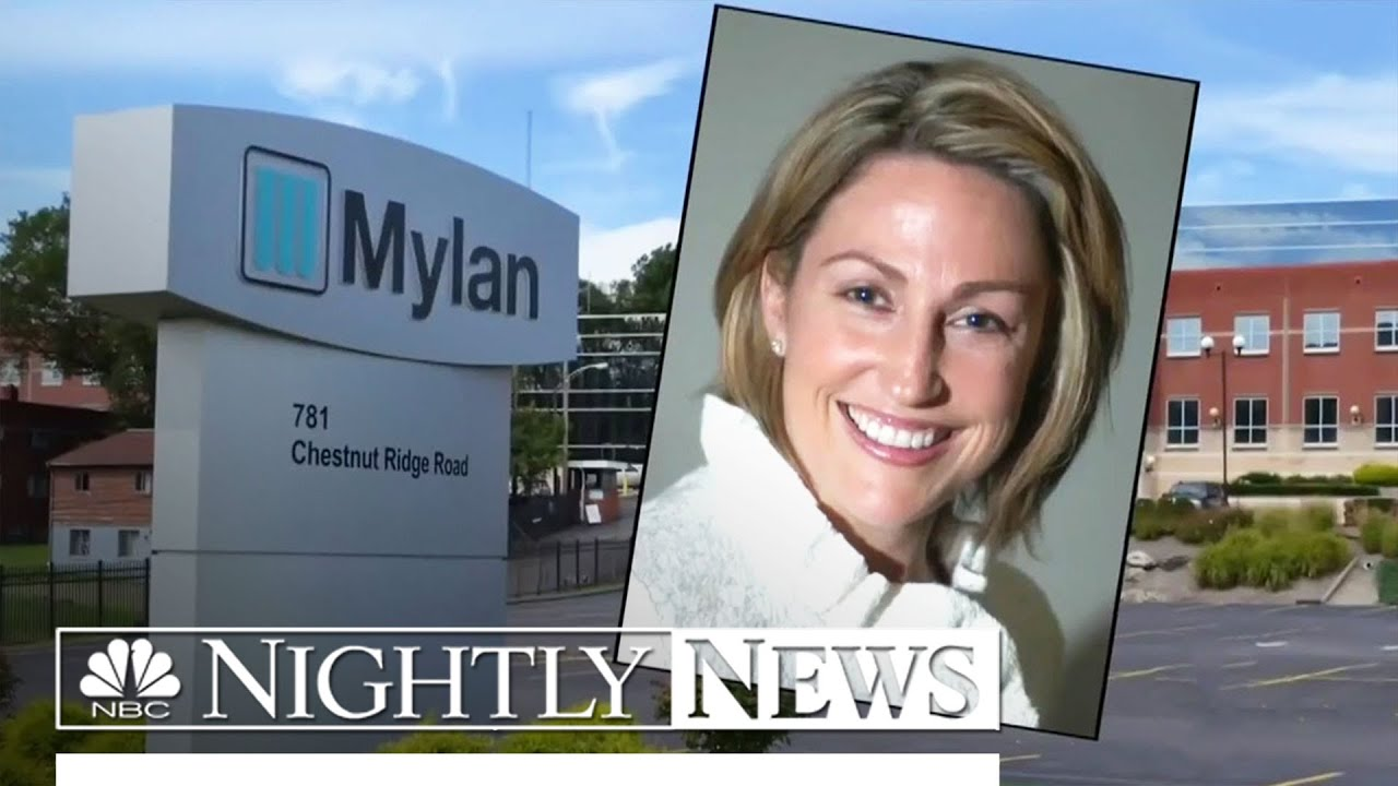 Mylan CEO Defends Price of EpiPen, Insists Company Isn't Price-Gouging |  NBC Nightly News