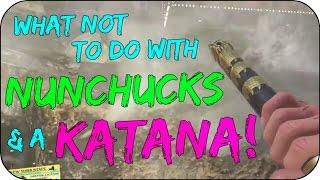 Nunchucks & Katana Testing Fail! - Shaolin Shuffle