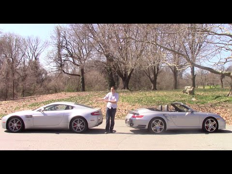 Porsche 911 Turbo vs. Aston Martin V8 Vantage