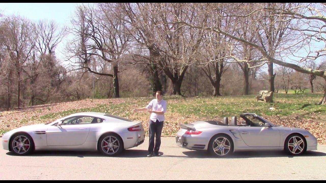 Porsche 911 Turbo Vs Aston Martin V8 Vantage Youtube
