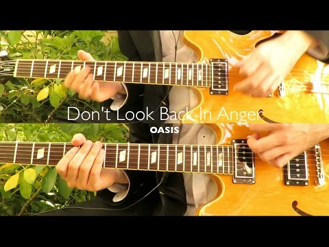 Don't Look Back In Anger - Oasis  ( Guitar Tab Tutorial & Cover )