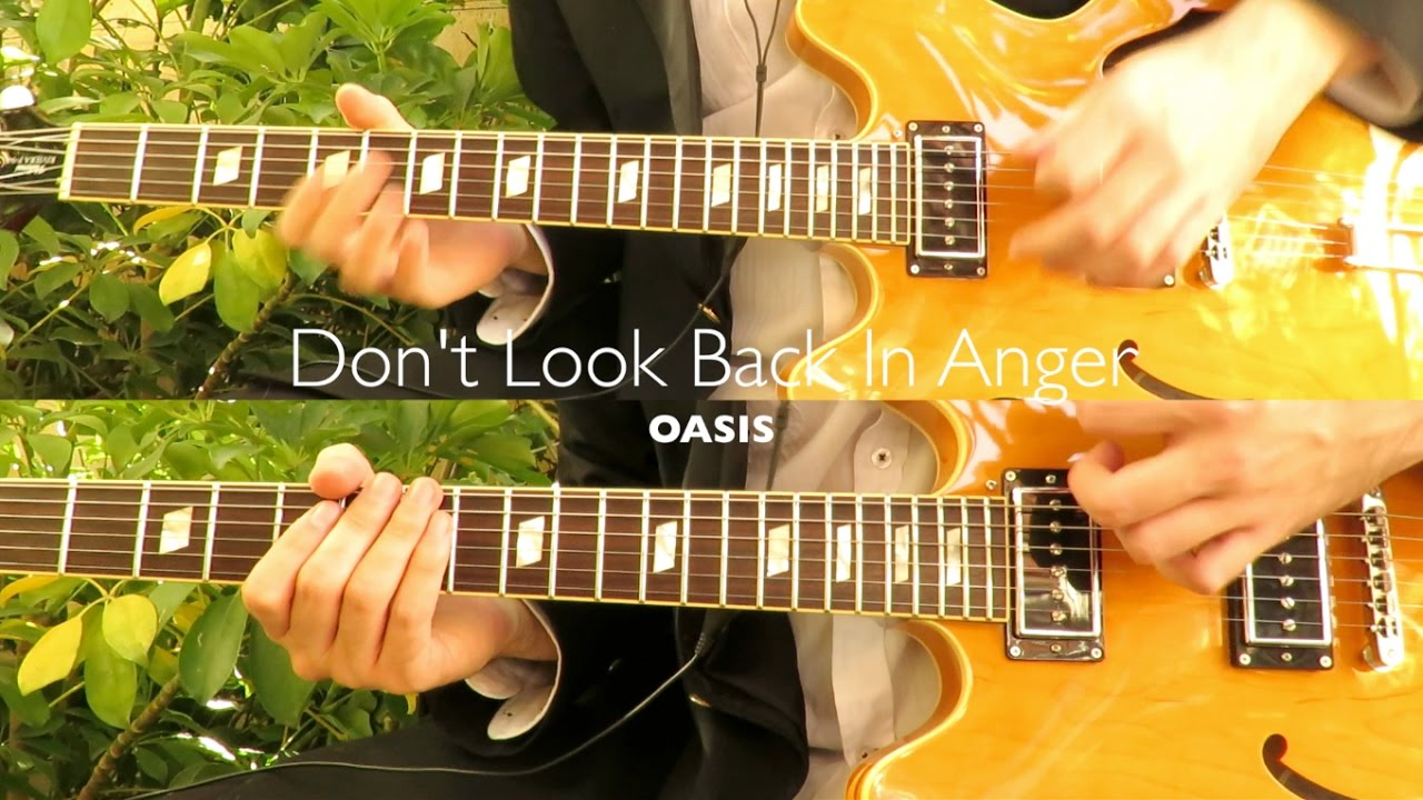 don 39 t look back in anger oasis guitar tab tutorial cover chords chordify. Black Bedroom Furniture Sets. Home Design Ideas