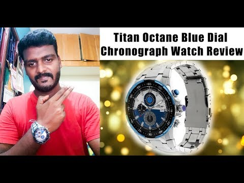 Titan Octane Blue Dial Chronograph Watch Unboxing And Review