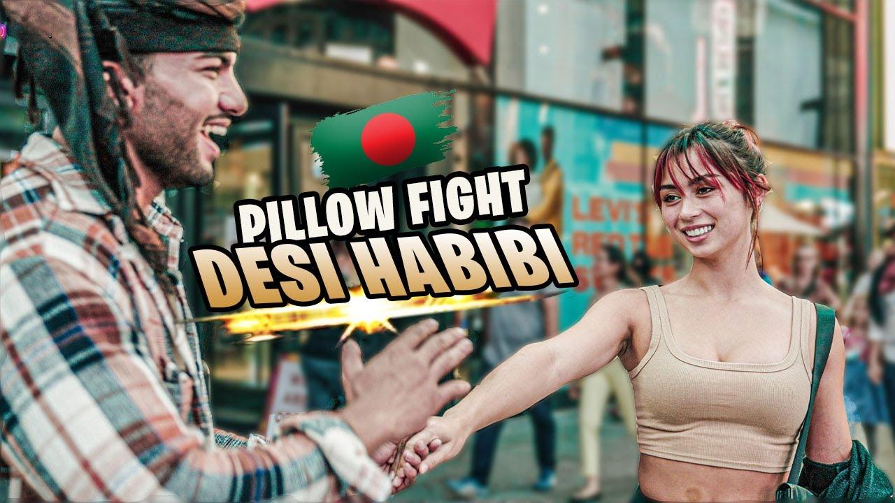 Download Bengali PILLOW FIGHTS With American Girls (Bangla Funny Video)   Desi Habibi