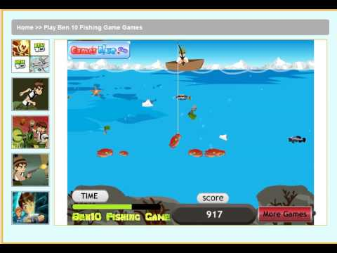 Play Ben 10 Fishing Game Games