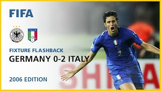 Germany 0 2 Italy AET Germany 2006 FIFA World Cup