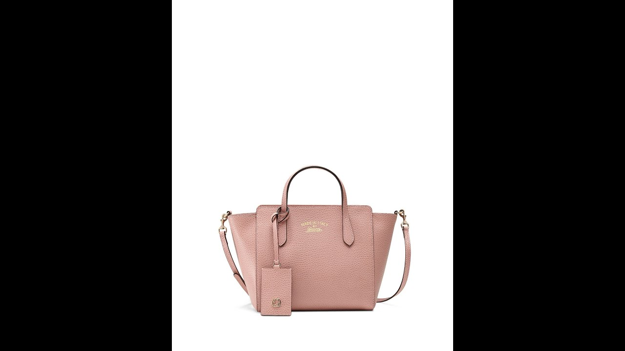 Gucci - Swing Mini Crossbody Bag, Light Pink - pink leather bag ...