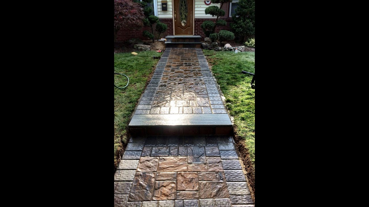 Paver Walkway | Bluestone Stoop | Cambridge Pavers with ArmorTec ...