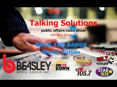 Talking Solutions and Back The Badge