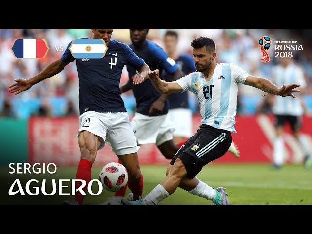 Sergio AGUERO Goal - France v Argentina - MATCH 50