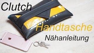 Clutch Handtasche nähen - DIY - ohne Schnittmuster - Nähanleitung