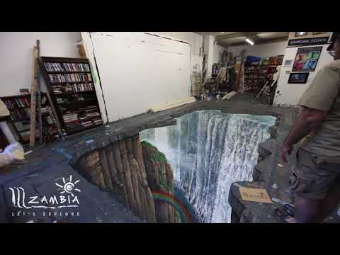 Timelapse 3D Painting of Victoria Falls   Zambia Tourism UK