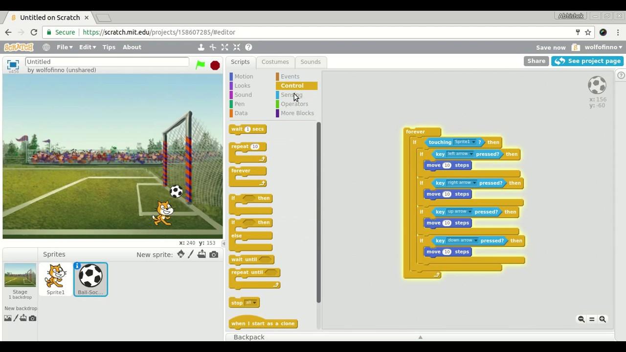 how do you make a sprite kick a soccer ball - Discuss Scratch