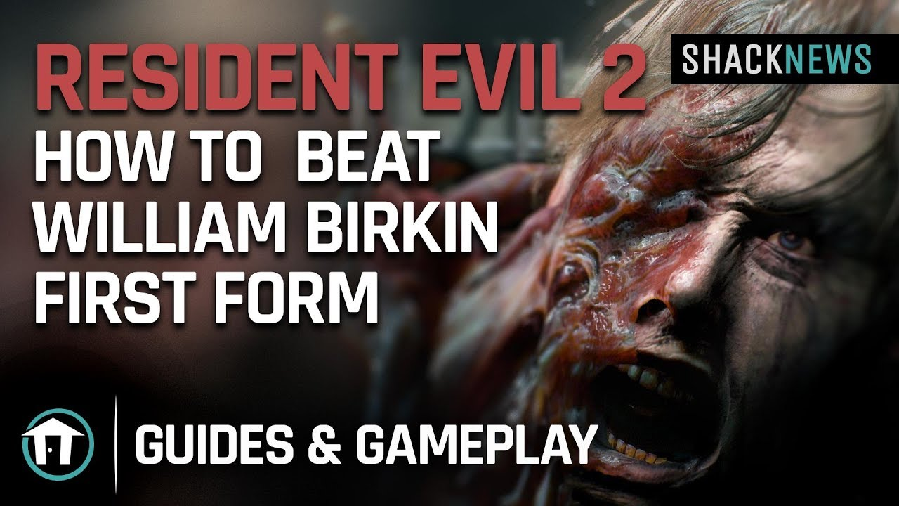 f468b0d98044 Resident Evil 2 Remake - How to Beat William Birkin - First Form ...