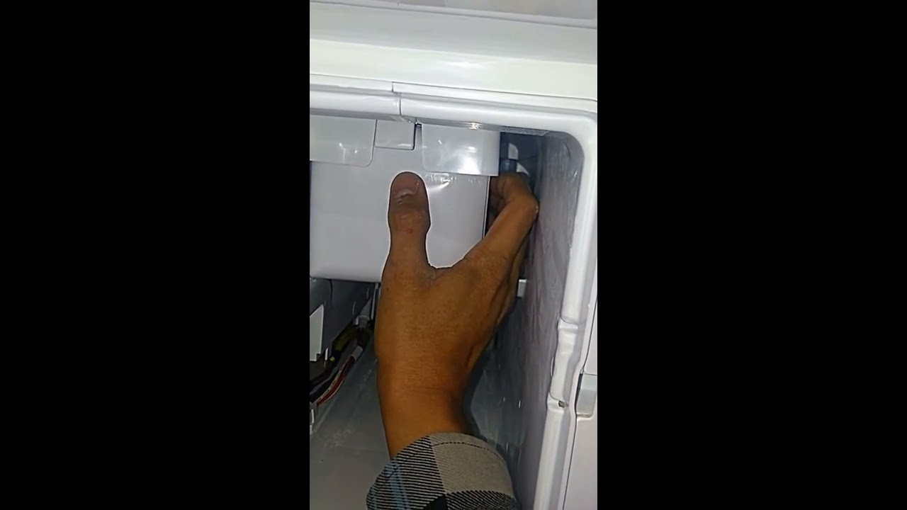 how to fix a ice maker replaced on a ge bottom freezer french door