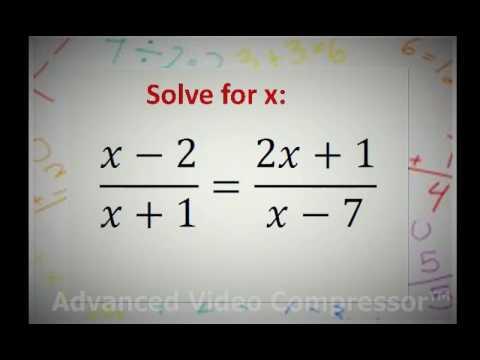 Grade 11 & 12: Quadratic equations with fractions