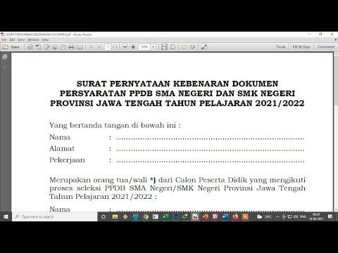 50++ Contoh surat pernyataan kebenaran dokumen ppdb terbaru terbaik