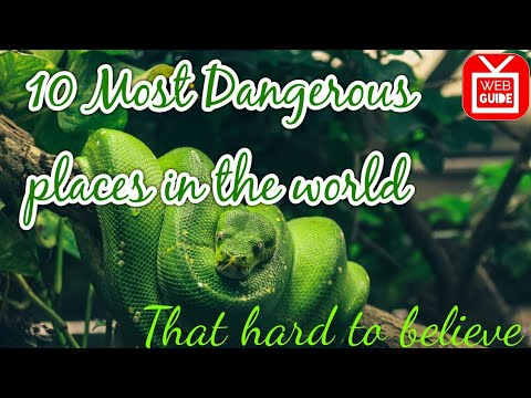 10 Most Dangerous Places in the world|Extreame dangerous|Deadliest place