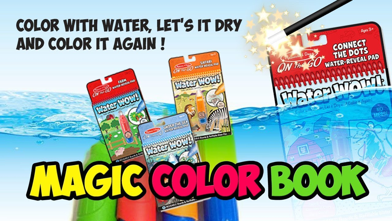 Magic Coloring Book I Water Wow! I Color with water, let\'s it dry ...