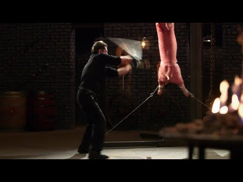 FORGED IN FIRE---JAPANESE SAMURAI SWORD.STRENGTH,SHARPNESS AND KILL TEST---HD