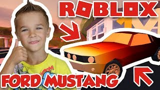 BUYING BRAND NEW FORD MUSTANG in ROBLOX JAILBREAK / ROB JEWELRY STORE WITH A STYLE