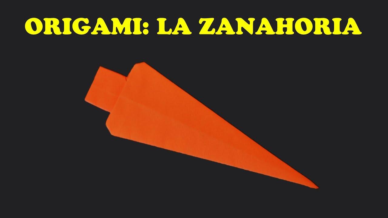 Origami para Niños Facil La Zanahoria - YouTube