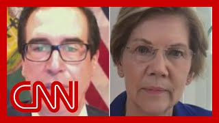 Warren presses Mnuchin on penalties for not protecting jobs Sen. Elizabeth Warren (D-MA) asked Treasury Secretary Steven Mnuchin why some businesses that are getting federal funding are not required to keep their ..., From YouTubeVideos
